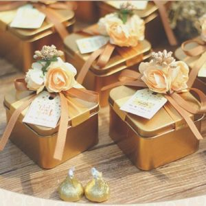 Wedding Favors Wholesale.Beautiful Wedding Favor Candy Boxes Wholesale With Flowers Garnishia